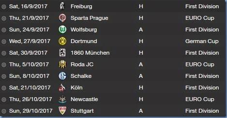 Future fixtures