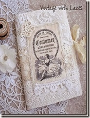 Needle Book - Vintage with Laces