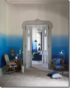 Dip dye ombre walls via poppytalk