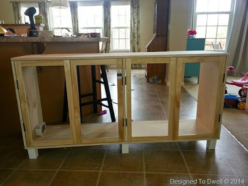 Designed To Dwell: DIY Mirrored Console Cabinet