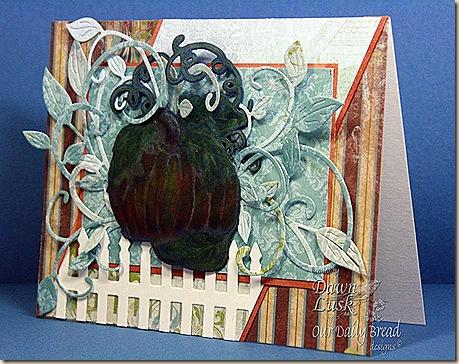F4A82 Blue Chalkboard Pumpkin