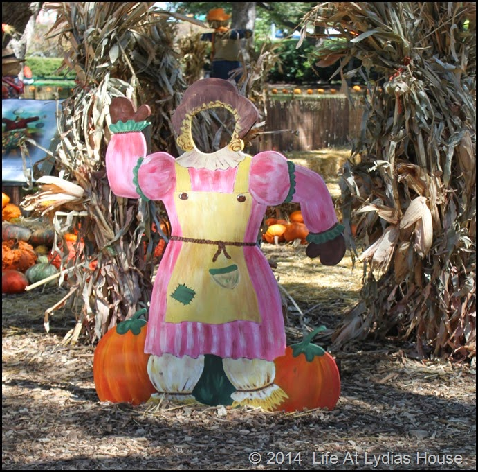 Dallas Arboretum - pumpkin festival-scarecrow photo booth 2