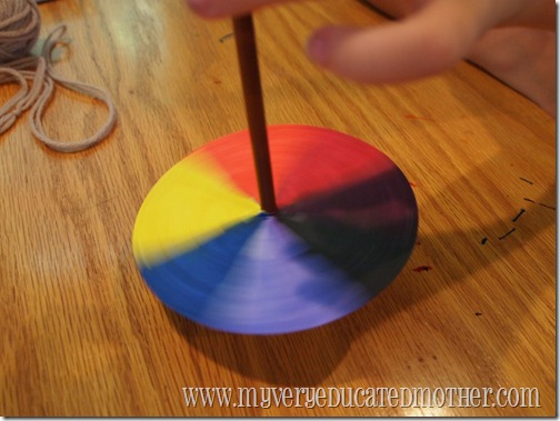 www.myveryeducatedmother.com Spinning Color Wheels