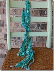handmade teal necklace scarf