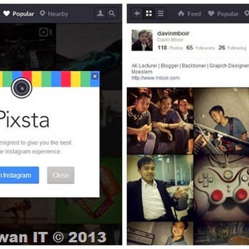 Pixsta, Cara Membuka Instagram Pada PC Desktop