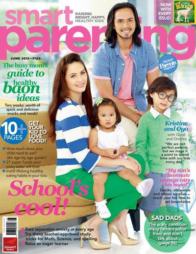 Kristine Hermosa, Oyo Sotto and kids cover Smart Parenting June 2013