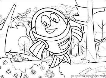 Desenhos para colorir Peixonauta - Fishnaut