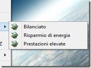 Cambiare opzioni risparmio energia dal menu del mouse su Windows 7 e 8