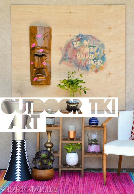Simple Outdoor Summer Tiki Art @ VintageRevivals