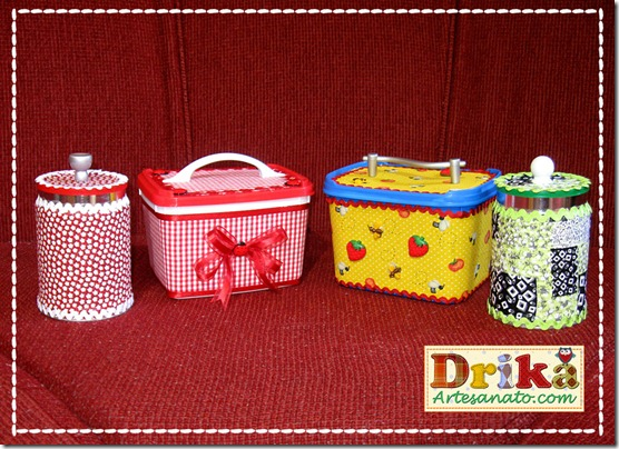 Potes de sorvete decorados Blog Drika Artesanato