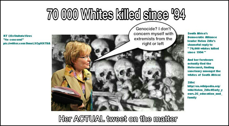 GenocidePosterHelenZilleReplyTo90000whiteskilledsince1994