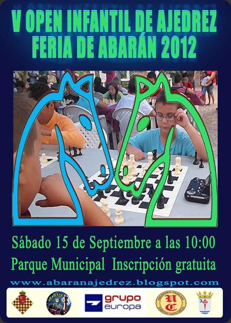 cartel V open infantil de ajedrez Abarn