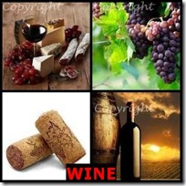 WINE- 4 Pics 1 Word Answers 3 Letters