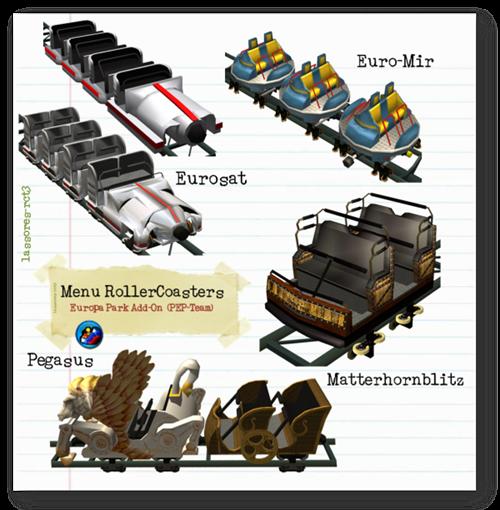 Menu RollerCoasters Cars (PEP-Team) lassoares-rct3