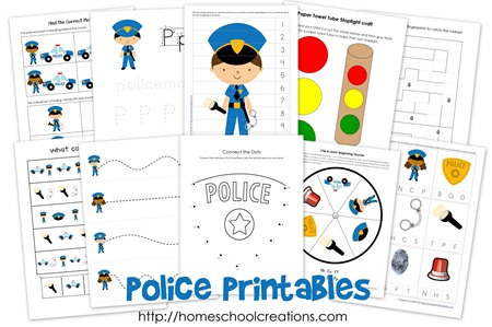 Printable Police Officer Craft Preschool