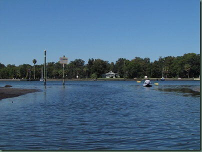 canal from our rv park, gulf to the left
