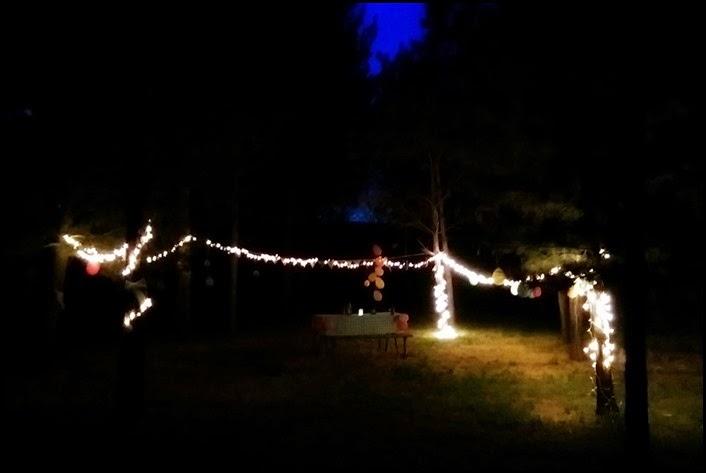 outside setup night