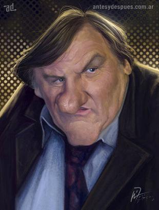 La caricatura de Gerard Depardieu