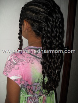 flat twist faux hawk