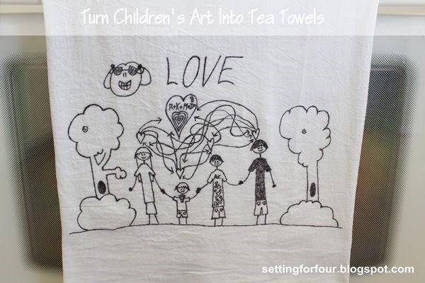 Kids creations - DIY tea towel