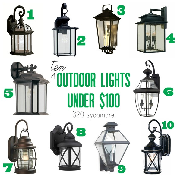 10 Outdoor Lights Under 100