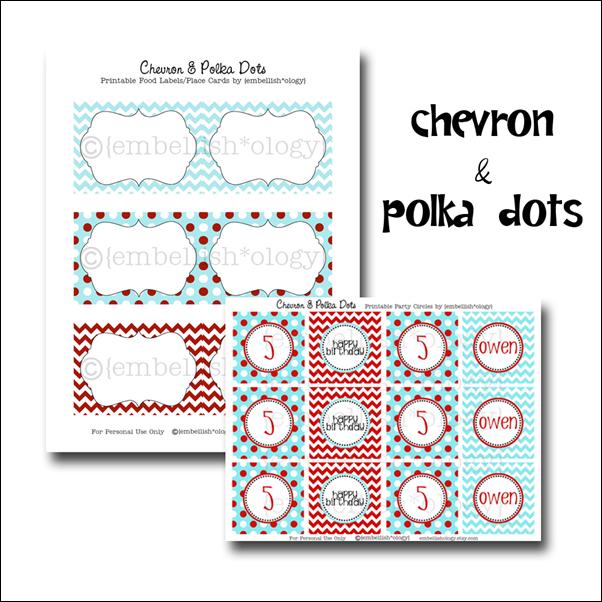 Chevron & Polka Dots