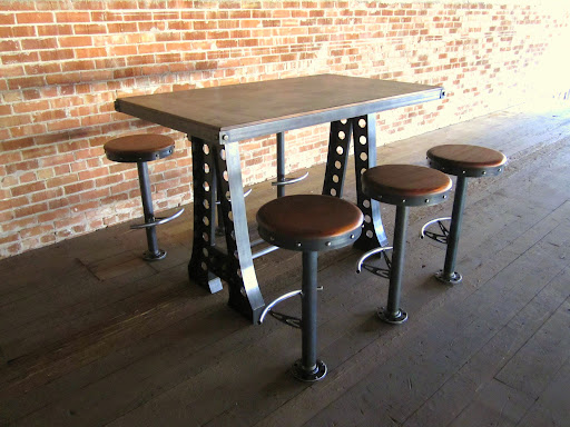 Our Industrial Crank Dining Table Has Been Popular With Clients Who Like  The Option Of Standing Or Sitting, Or Like An Adjustable Table That Goes  From ...