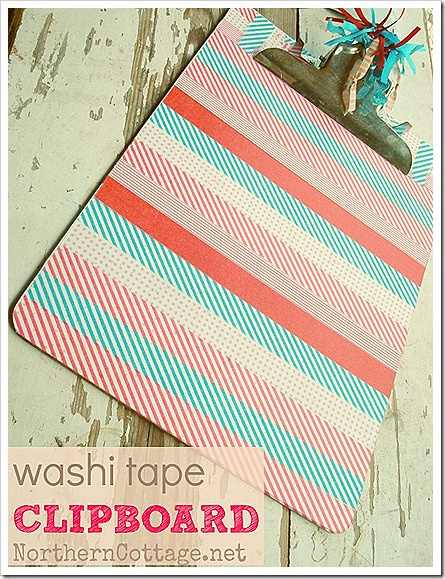 northern cottage washi tape clipboard