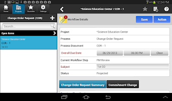 Screenshot of e-Builder Mobile