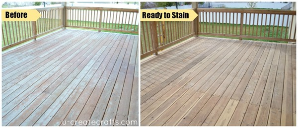 Deck Makeover with FLOOD before and during