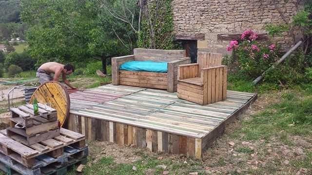 les palettes du coeur terrasse boutade. Black Bedroom Furniture Sets. Home Design Ideas