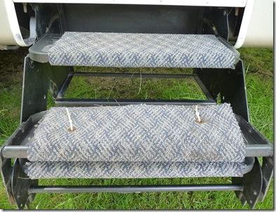 Self made step carpet.