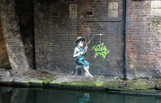 banksy fishing