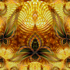 The Golden One by Tina Dare - Illustration Abstract & Patterns ( abstract, patterns, designs, golden, shapes )