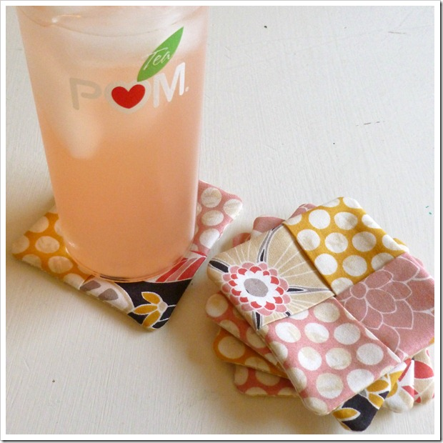 fabric block coasters