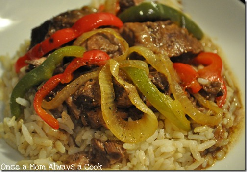 Crock Pot Beef Tips and Rice