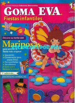 Capa   Mariposa En Goma Eva Goma Eva Fiestas Infantiles N   11