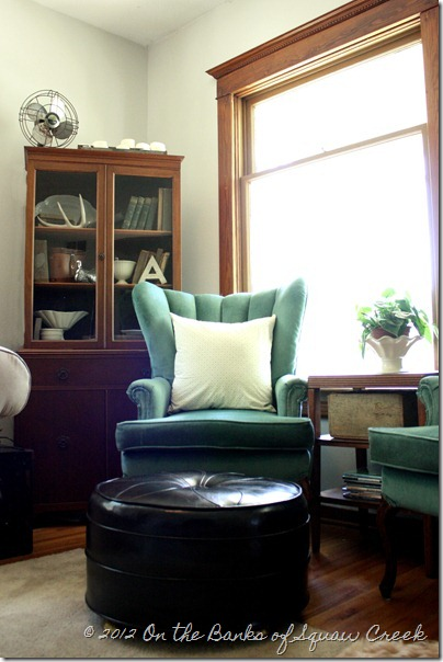 turquoise wingback