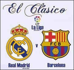 Real Madrid y Barcelona en el Clásico de España