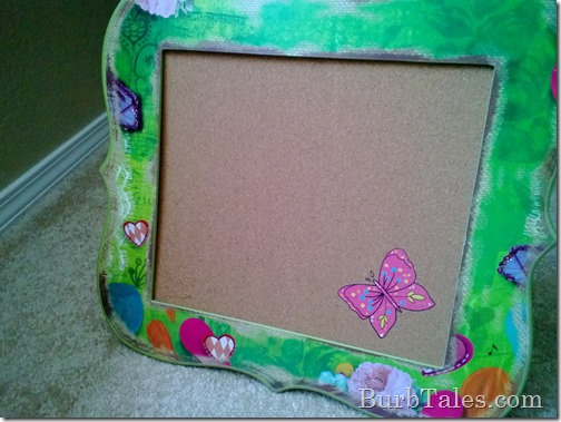 Hobby Lobby girly girl corkboard