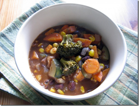 Black Bean Soup with Loads 'o Veggies
