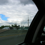 driving on the gardiner in Toronto, Ontario, Canada