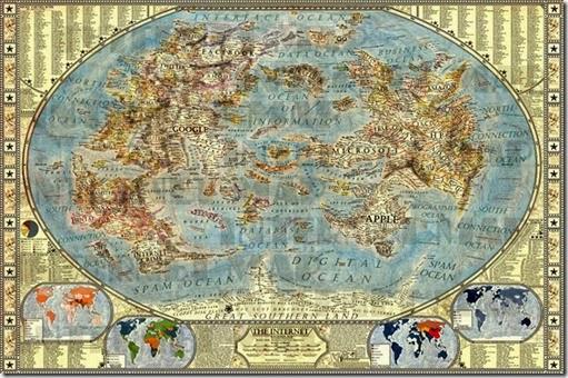 Mapa Mundi del internet