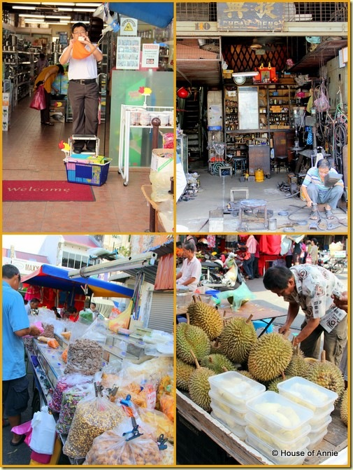 Scenes in and around Chowrasta Market Penang