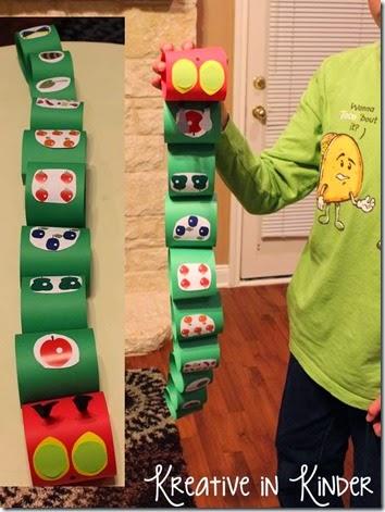 very hungry caterpillar paper craft