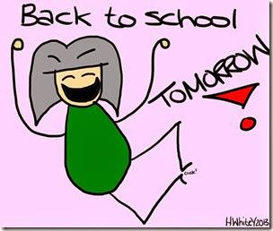 That White Girl - back to school tomorrow