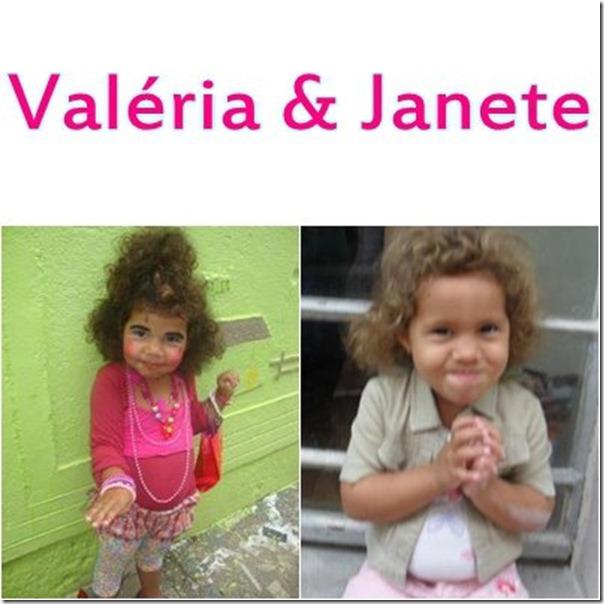 Valéria e Janete na infãncia