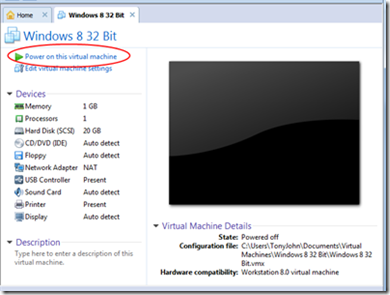 Step by Step Instructions To Install Windows 8 on VMWare Workstation 8 2