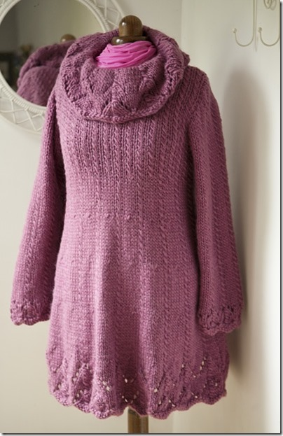 Pink wool dress6