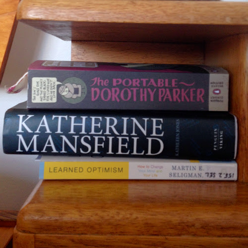 The books on my bedside table